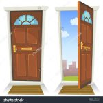 stock-vector-cartoon-red-door-open-and-closed-illustration-of-a-cartoon-front-red-door-opened-on-a-spring-144577829